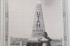 1931 Monolith at the Colorado Utah Border in Mack