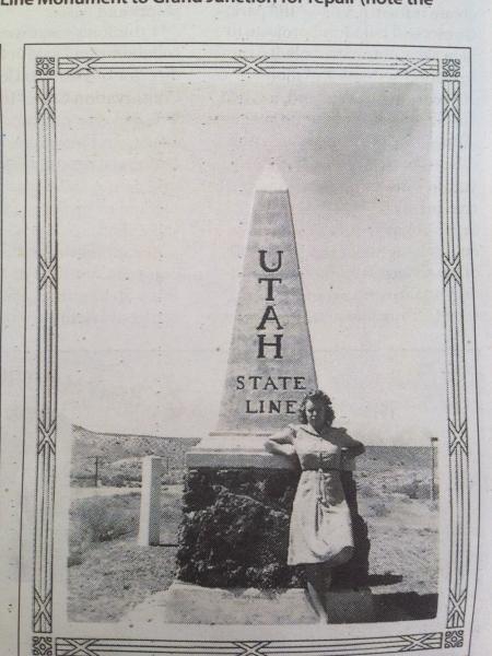 1931 Monolith at the Colorado Utah Border in Mack